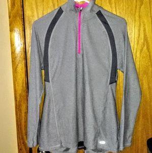Champion Gray 1/4 Zip Pullover Running Jacket